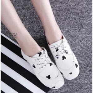 Кроссовки Aliexpress Fashion Women Casual Shoes 2016 New Arrival Female Spring Autumn Canvas Shoes Women Cartoon Mouse Cute Wlaking Shoes фото