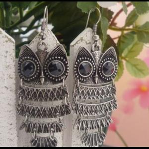 Серьги Aliexpress Free shipping,New fashion Alloy vintage owl Stud Earrings for women B514 фото