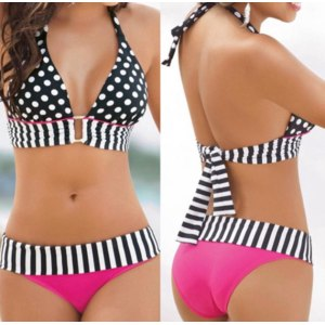 Купальник AliExpress Sexy women swimwear bikini set  bandeau push-up padded bra swimsuit  фото