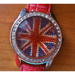 Часы женские Aliexpress 11 colors British Flag Convex Brown Glass Face Dress Watch Imitation Diamond Setting Quartz Watch 1pcs/lot фото