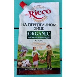 Майонез Mr.Ricco на перепелином  яйце ORGANIC (Premium 67%) фото