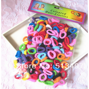 Резинка для волос Aliexpress 190 Pcs/ Pack Free Shipping Elastic candy Color Baby Girls' Towel Hair Ropes Kids' Hair bands фото