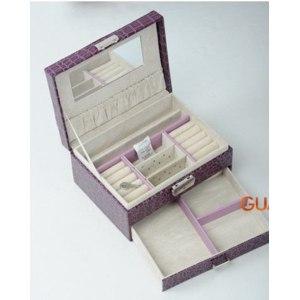 Шкатулка для украшений Aliexpress Free shipping Wholesale Korean leather jewelry box storage box candy-colored multifunction jewelry box jewel case for gift фото