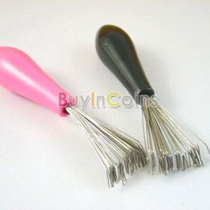 Расческа Buyincoins Comb Hair Brush Cleaner Cleaning Remover Embedded Plastic Handle Tool фото