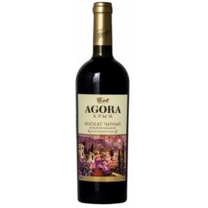 Вино красное сладкое Agora Мускат Черный фото