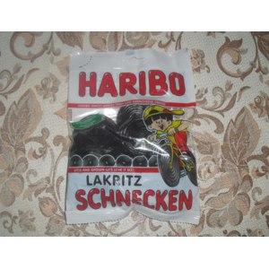 Жевательные конфеты HARIBO Лакричные улитки фото