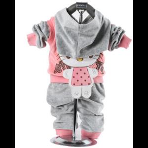 Костюм AliExpress New 2013 children clothing sets, hello kitty girl clothing set, hoodie+pant, velvet, autumn/spring фото