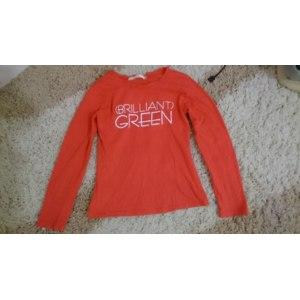Футболка с длинным рукавом AliExpress 2014 new fashion plus size women clothing t shirt korean style punk sexy tops tee clothes T-shirt Letters printed GREEN фото