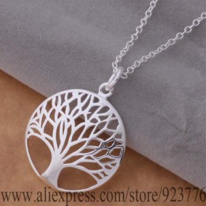 Цепочка с кулоном Aliexpress AN677 925 sterling silver Necklace 925 silver fashion jewelry pendant tree /djgamana berajvya фото