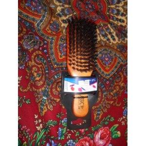Расческа с натуральной щетиной Sibel Деревянная  фото