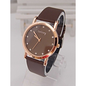 Часы женские Aliexpress Holiday sale Gogoey high quality leather watch women men ladies fashion dress quartz wrist watch new arrival GO023 фото