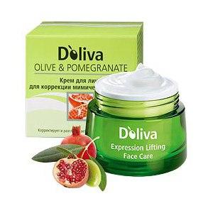 Крем для лица Doliva для коррекции мимических морщин с экстрактом граната Olive & Pomegranate: Expression Lifting Face Care фото