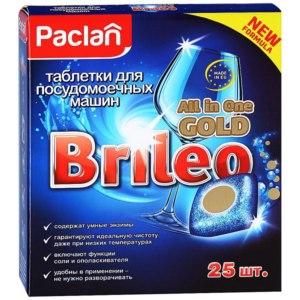 Таблетки для посудомоечной машины PACLAN Brileo All in One Gold фото