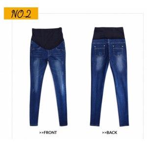 Джинсы для беременных AliExpress 2016 Hot Sale Good Quality Cotton Denim Skinny Maternity Jeans Holes Contrast Stitchings Pockets Pencil Jeans For Pregnant Women фото