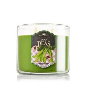 Ароматизированная свеча Bath & Body Works SNAP PEAS (зеленый горох)  фото
