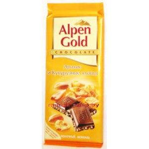 Шоколад Alpen Gold арахис и кукурузные хлопья фото