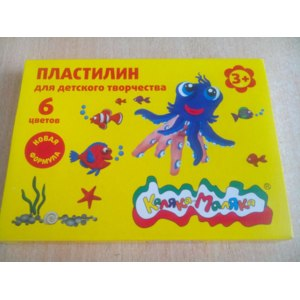 Пластилин Каляка-Маляка Набор со стеком для детского творчества 6 цветов фото