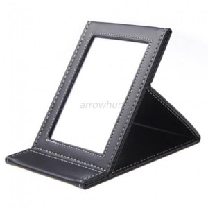 Зеркальце Ebay New Makeup Cosmetic Folding Portable Compact Travel Leather Beauty Makeup Mirror фото