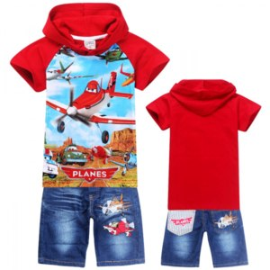Комплект (футболка и штанишки) AliExpress New 2014 Retail Children Set Cartoon DUSTY PLANE fashion suit boys jeans sets t-shirt+pant 2pcs Kids Clothing фото