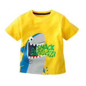 Футболка AliExpress Hot Sell! Cute Toddler Baby Kids Boys Catroon Tees Tops children T-shirt Age 1-6 Years фото