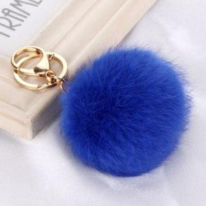 Брелок Aliexpress JINSE CRM060 Hot selling New 8CM Length Rabbit Fur Ball Cell Phone CarKeychainPendant Handbag CharmKey Chain PomPom CharmKeyring фото