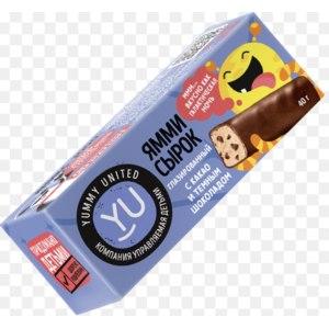 Сырок творожный глазированный YUMMY UNITED с какао и шоколадными кусочками  фото
