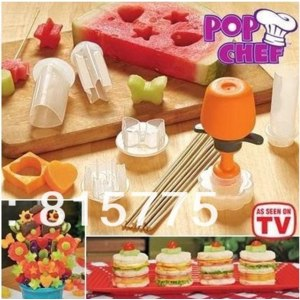 Набор для украшения блюд AliExpress Free Shipping New Pop Chef Fruit and Vegetable Shape DIY Fruit Model Maker Push Pop Prep Eat As Seen on фото