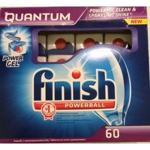 Таблетки для посудомоечных машин Finish Quantum power gel фото