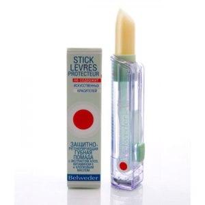 Гигиеническая помада Belweder Stick Levres Protecteur aux Huiles защитно-регенерирующая с экстрактом алоэ фото