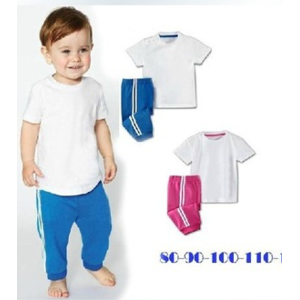 Комплект (футболка и штанишки) AliExpress Trading - 2013 sets baby clothes boy and girl sport sets / shirt + pants / baby wear / Children clothing / baby clothes фото