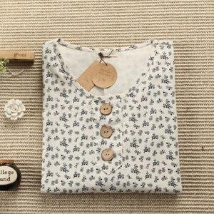 Платье AliExpress Linen floral print wood buttons loose doll dress vintage mori girl dress фото