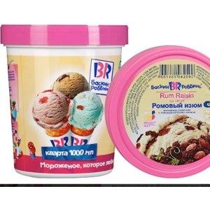Сливочное мороженое Баскин Роббинс Ромовый изюм фото