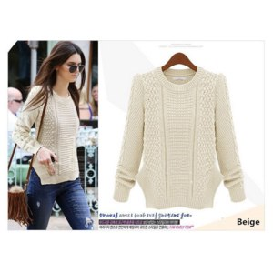 Свитер AliExpress 2014 Autumn Winter New Fashion Women Knitted Sweaters & Pullovers Ladies Long Sleeve Irregular Hem European Style Casual Jumper фото