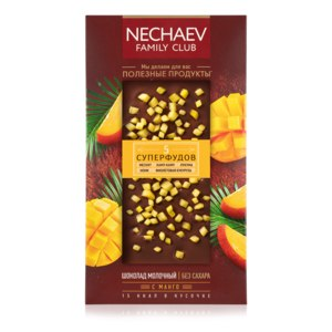 Шоколад молочный Faberlic «5 суперфудов» с манго серии Nechaev Family Club фото
