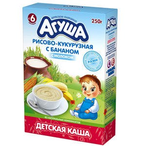 Каша Агуша рисово-кукурузная с бананом фото