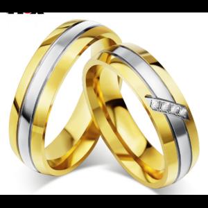 Обручальное кольцо Aliexpress Vnox Trendy Wedding Ring 316l Stainless Steel Metal CZ Zircon Stone Finger Jewelry фото