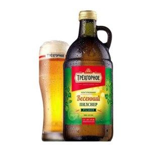 Пиво Трёхгорное Весенний пилснер фото