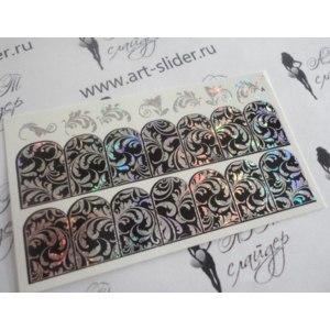 Слайдер-дизайн для ногтей Арт слайдер Фольгированный двойного фольгирования фото