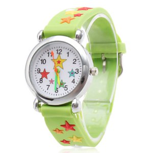 Часы наручные кварцевые Miniinthebox.com Silicone Analog Quartz Wrist Watch with Cartoon Star (Green) фото