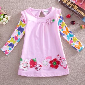 Платье AliExpress Nova baby prodcts new fashion t shirts baby clothing embroidery flowers children t shirts for baby girls F2275 free shipping фото
