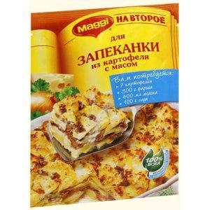 """Приправа Maggi НА ВТОРОЕ для запеканки из картофеля с мясом """"100% вкуса"""" фото"""