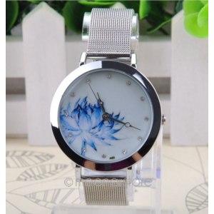 Часы женские Aliexpress 2014 Free Shipping Quartz Wrist Watch for Women steel bracelet simple watch ZMPJ578 фото