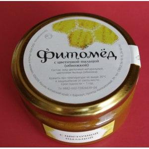 """Мёд ООО НПФ """"Пчела и человек"""" Фитомед с цветочной пыльцой фото"""