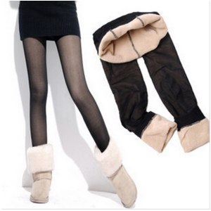 Леггинсы AliExpress Women's Rabbit ankle length leggings warm winter pants fall Anniversary Velvet Stripe Stockings Tights фото