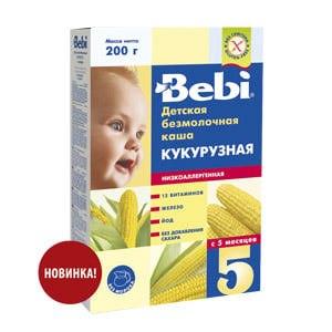 Каша Bebi кукурузная низкоаллергенная фото