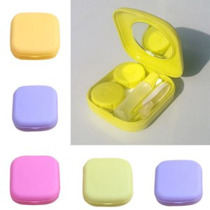 Контейнер для контактных линз Aliexpress 1pc Pocket Mini Contact Lens Case Travel Kit Easy Carry Mirror Container Holder Free Shipping фото
