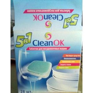 Таблетки для посудомоечных машин CleanOK 5 в 1 фото
