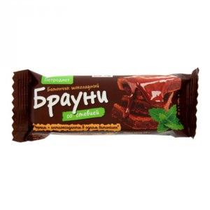 "Батончик ТД ""Петродиет"" Шоколадный Брауни со стевией фото"