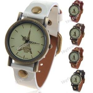 Часы Tinydeal Trendy Quartz Watch Wrist Timepiece with PU Leather Strap for Lady Woman WWM-145987 фото