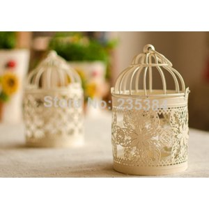 Подсвечник Aliexpress Vintage Style Classic Candle Holder Birdcage Romantic Feelings Metal Lantern Wedding Gift Decoration фото